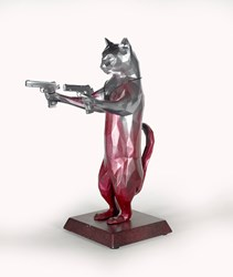 Rebel With The Paws (Fortune) by Maxim - Original Sculpture sized 12x17 inches. Available from Whitewall Galleries